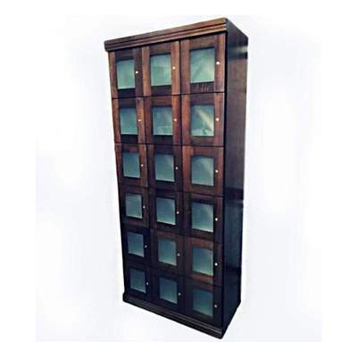 18 Commercial Cigar Humidor Lockers | Frosted Glass