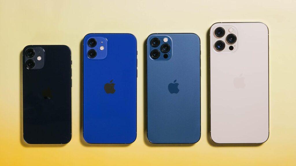4 iphone 13  diffrent colors